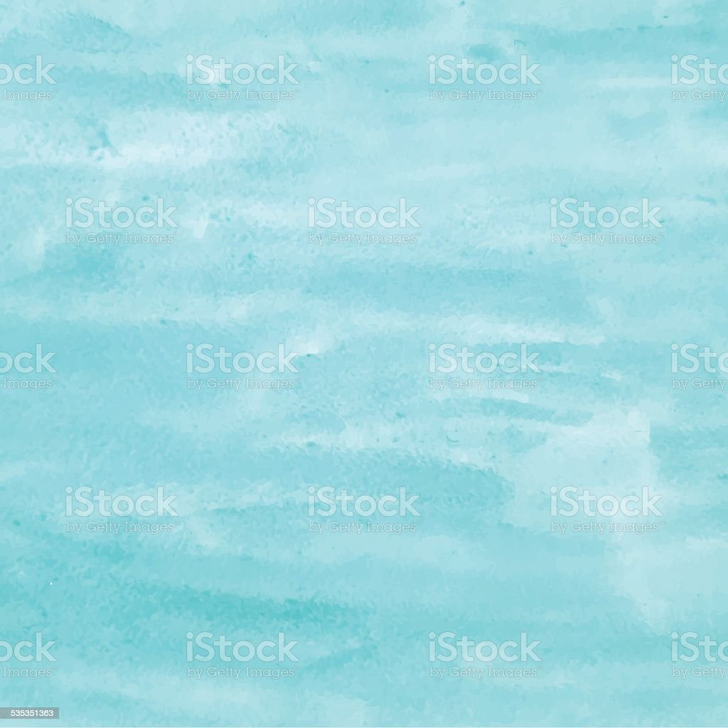 Turquoise watercolor background for design. Vector illustrations vector art illustration