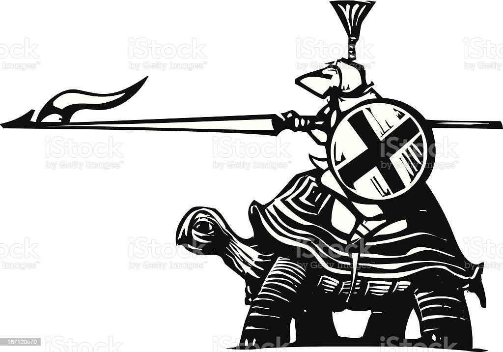 Turtle Knight royalty-free stock vector art
