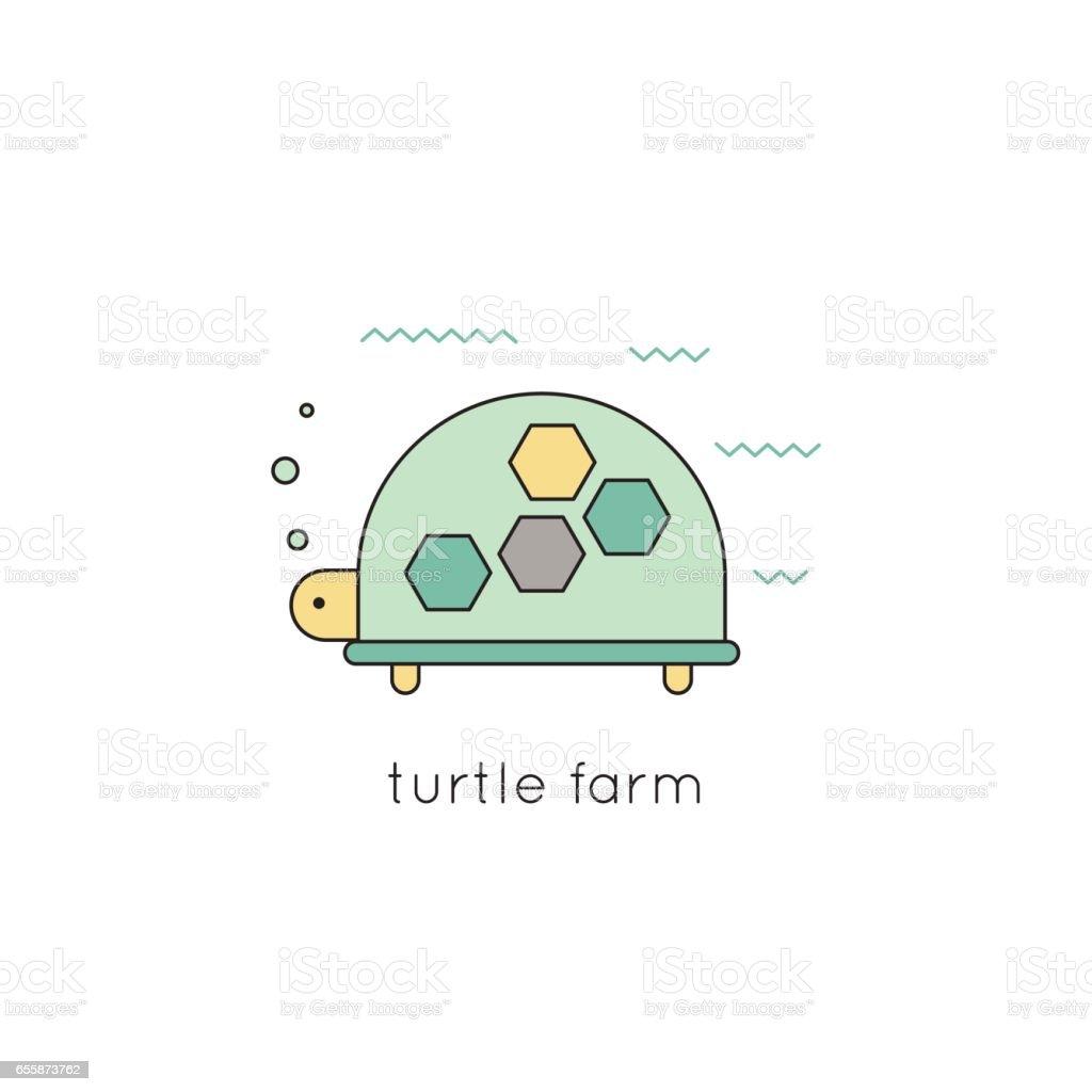 Turtle line icon vector art illustration