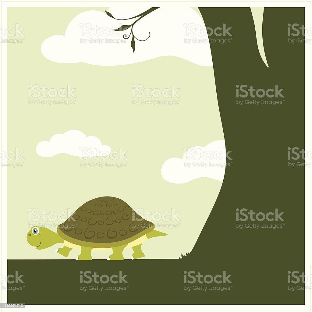 Turtle Path royalty-free stock vector art