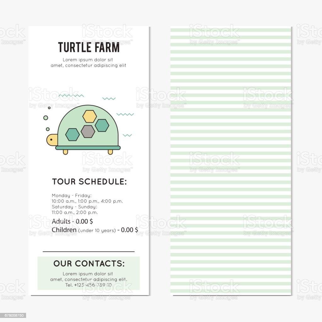 Turtle vertical banner vector art illustration