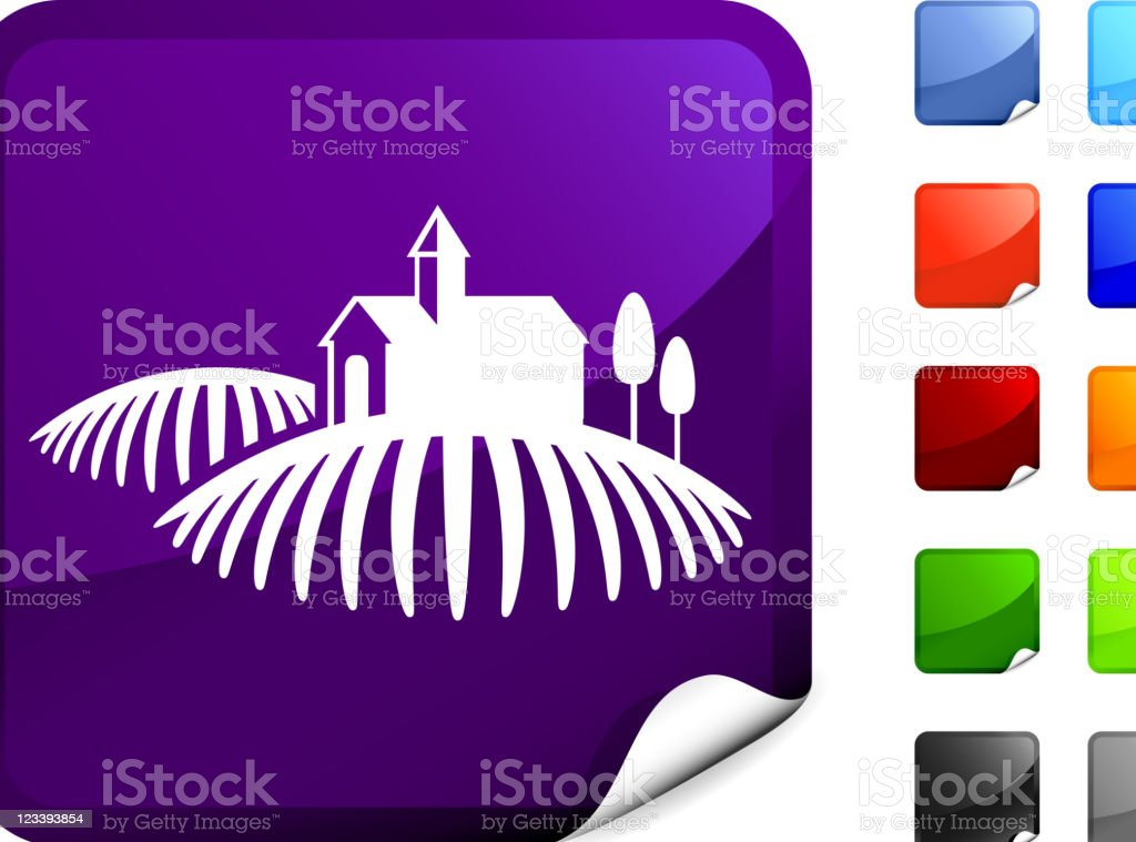 Tuscany winery internet icon royalty-free stock vector art