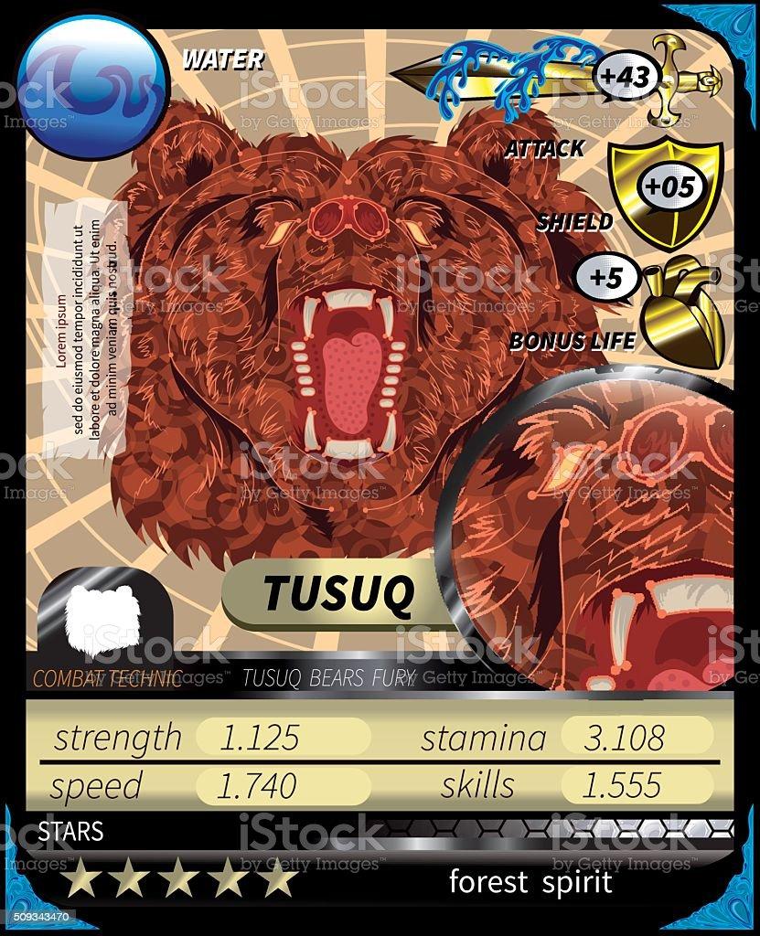Tusuq_Card vector art illustration