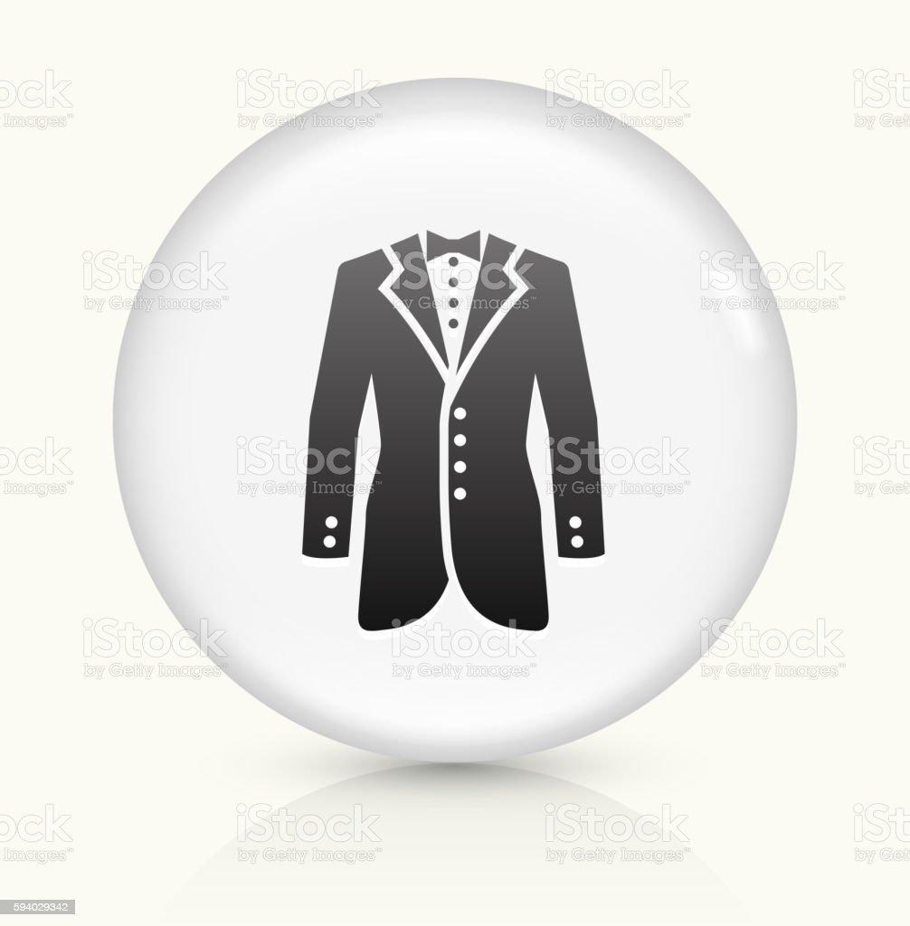 Tux icon on white round vector button vector art illustration