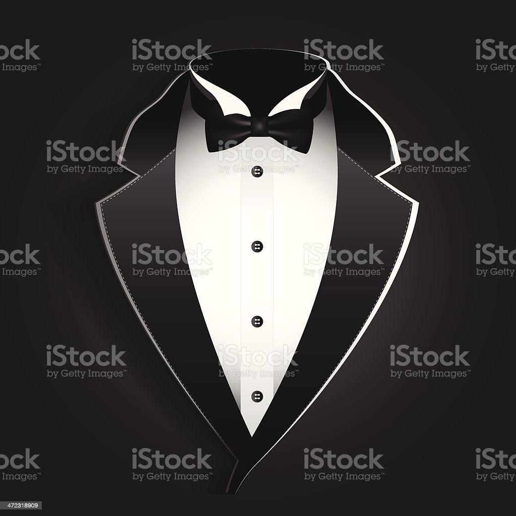 tuxedo vector art illustration