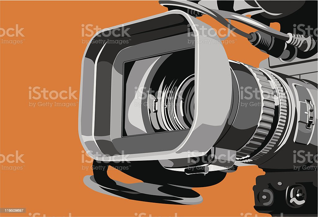 tv camera at studio royalty-free stock vector art
