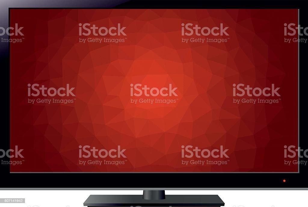 Tv Mosaic Style vector art illustration