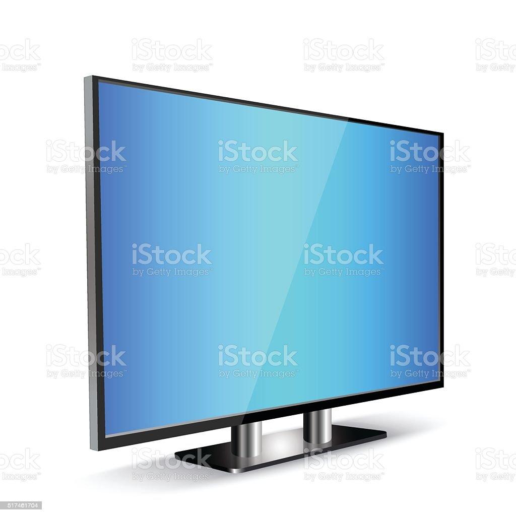 Tv panel screen vector art illustration