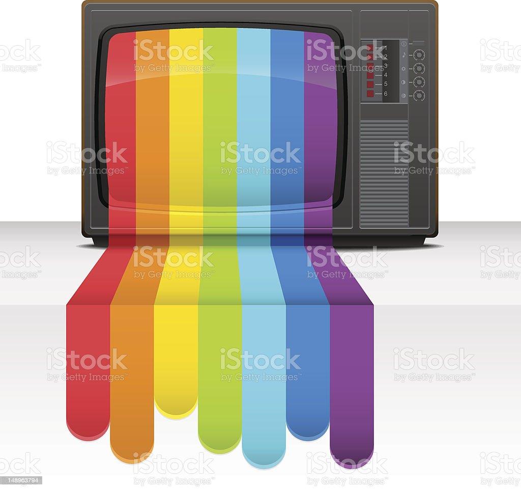 Tv rainbow royalty-free stock vector art