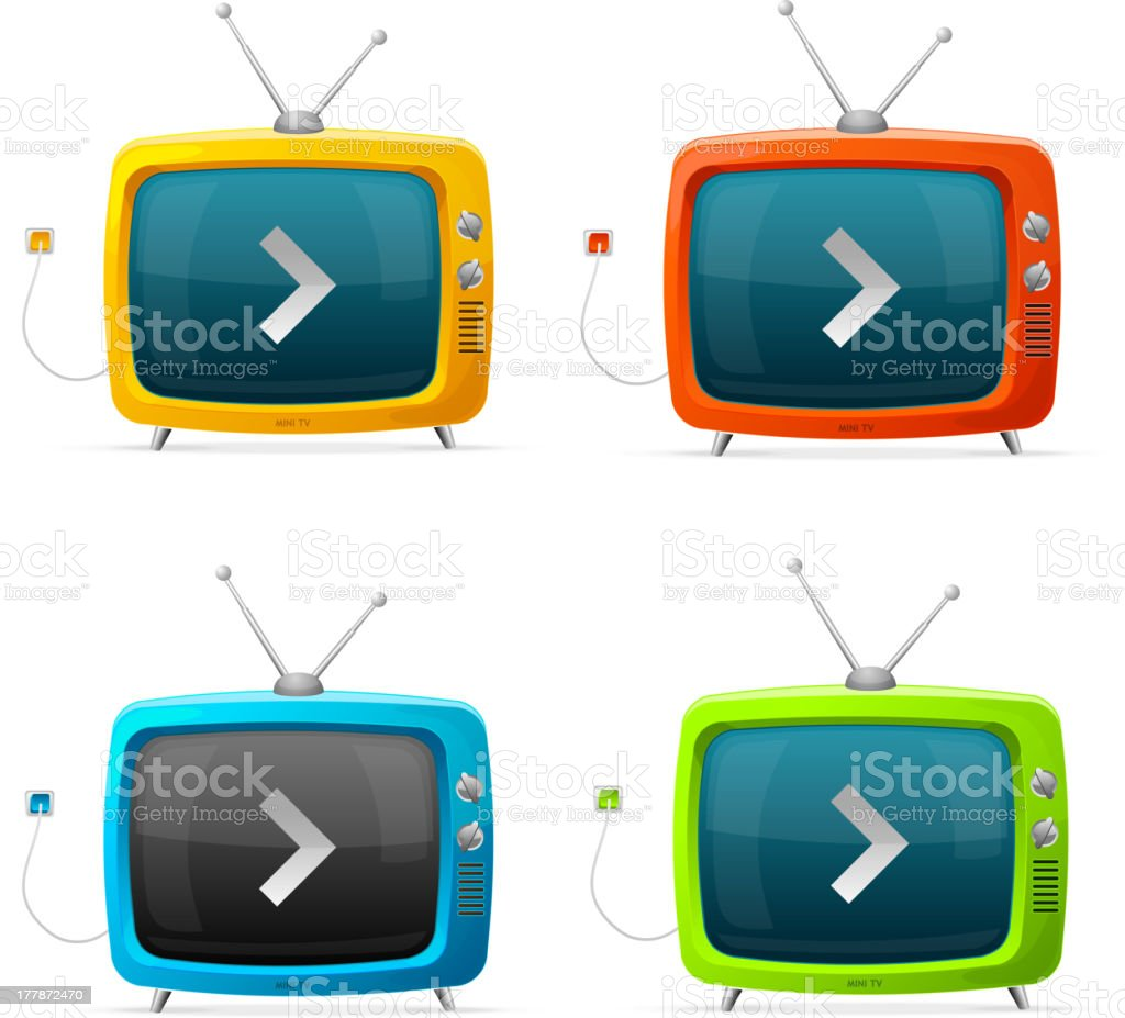 Tv vector set royalty-free stock vector art