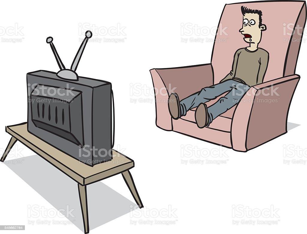 tv_brainwash vector art illustration