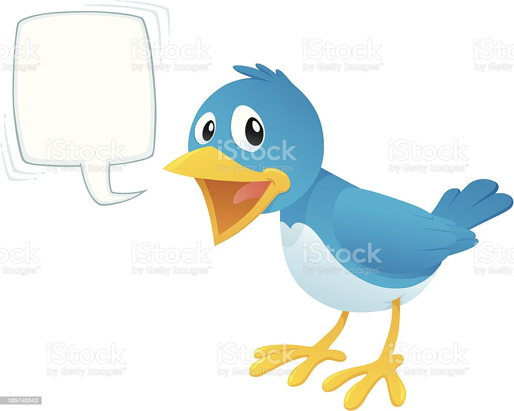 Tweeting Bird royalty-free stock vector art