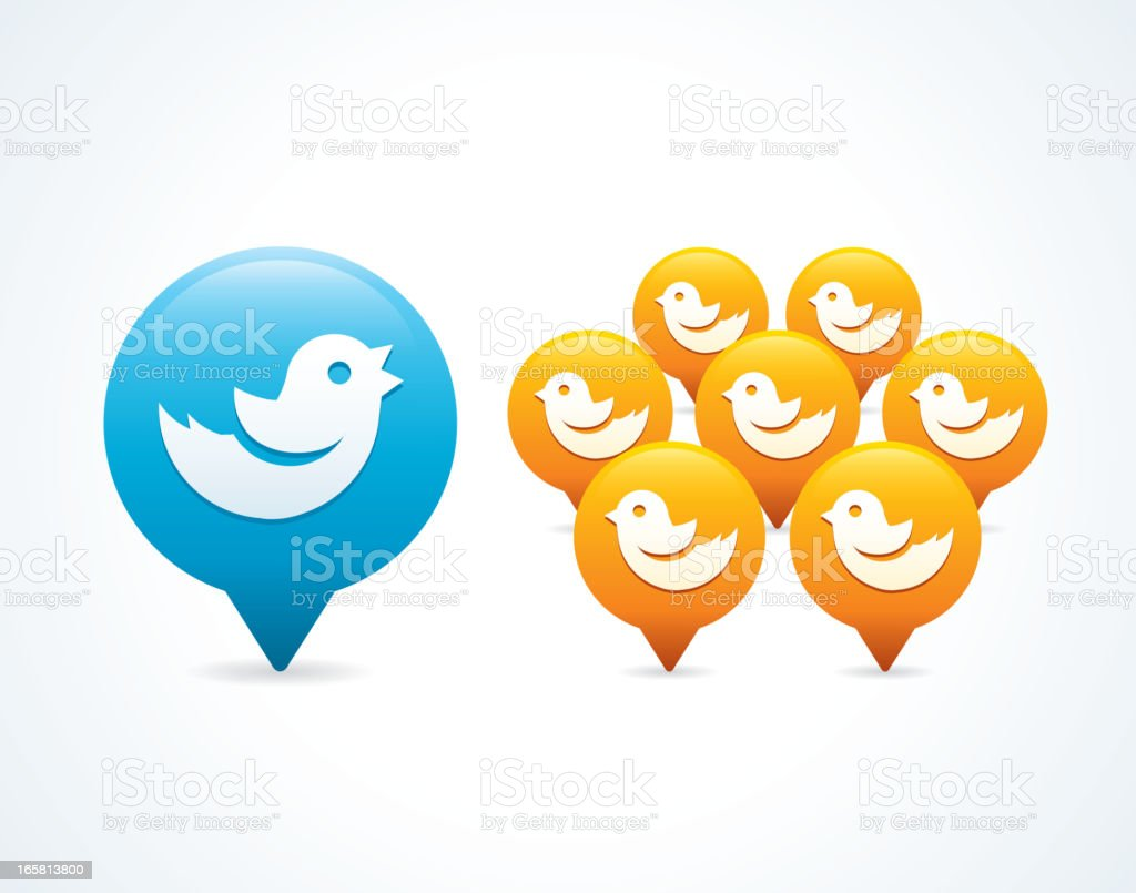 Tweeting to followers royalty-free stock vector art