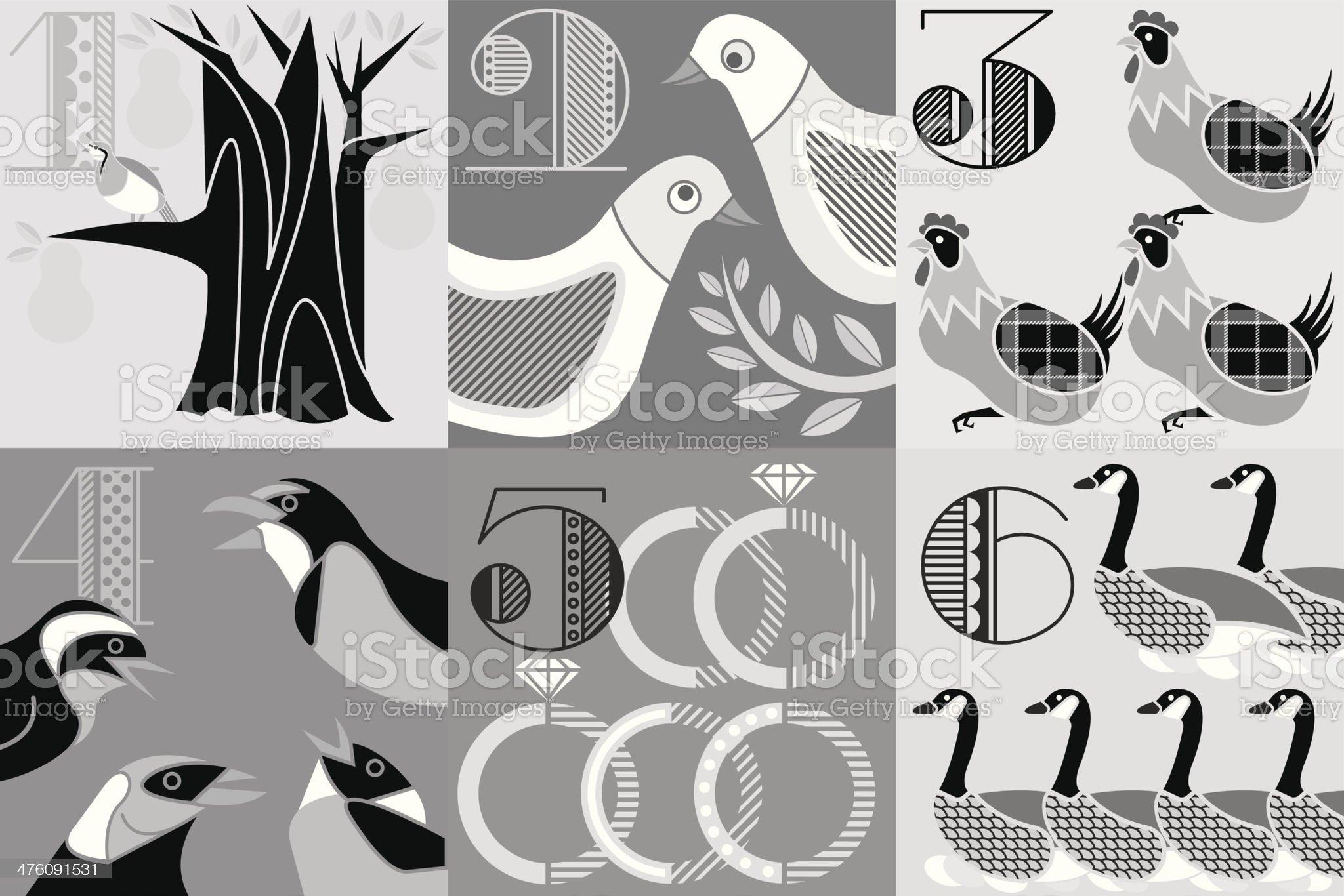 Twelve Days Christmas royalty-free stock vector art