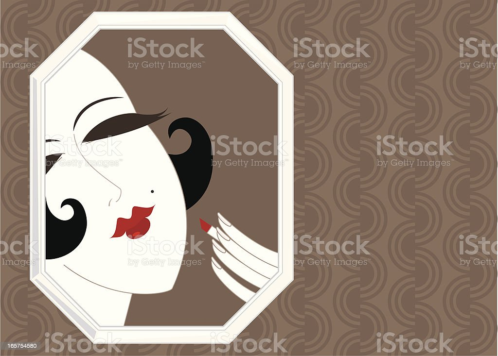 Twenties Make Up Girl royalty-free stock vector art