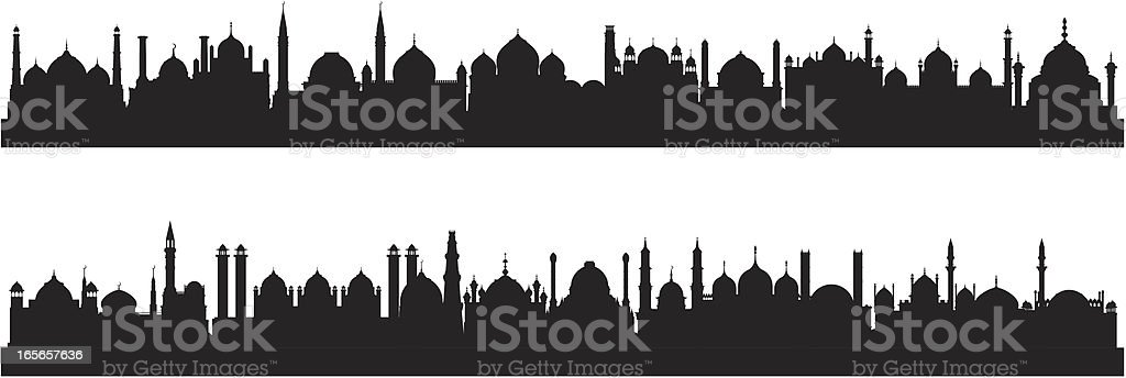 Twenty Five Mosques royalty-free stock vector art
