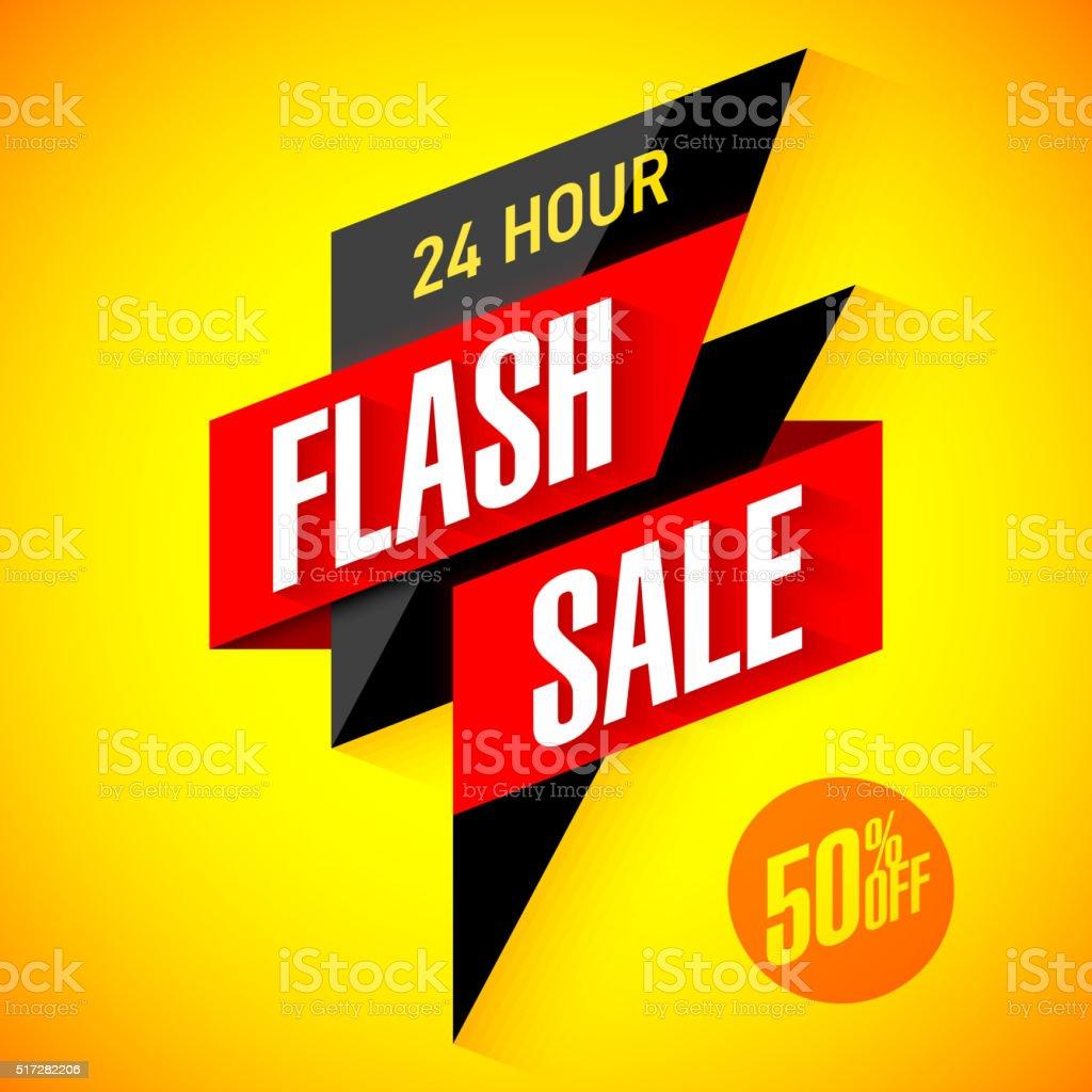Twenty four hour Flash Sale vector art illustration