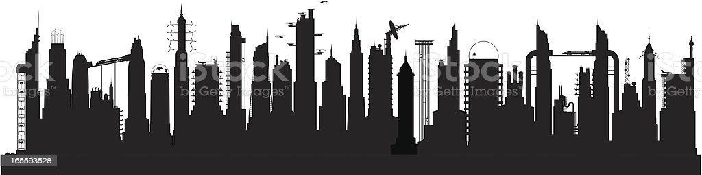 Twenty-Five Buildings of the Future vector art illustration