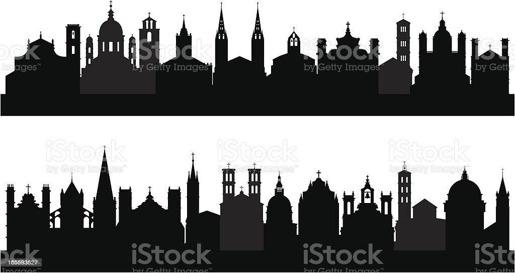Twenty-Two Churches royalty-free stock vector art