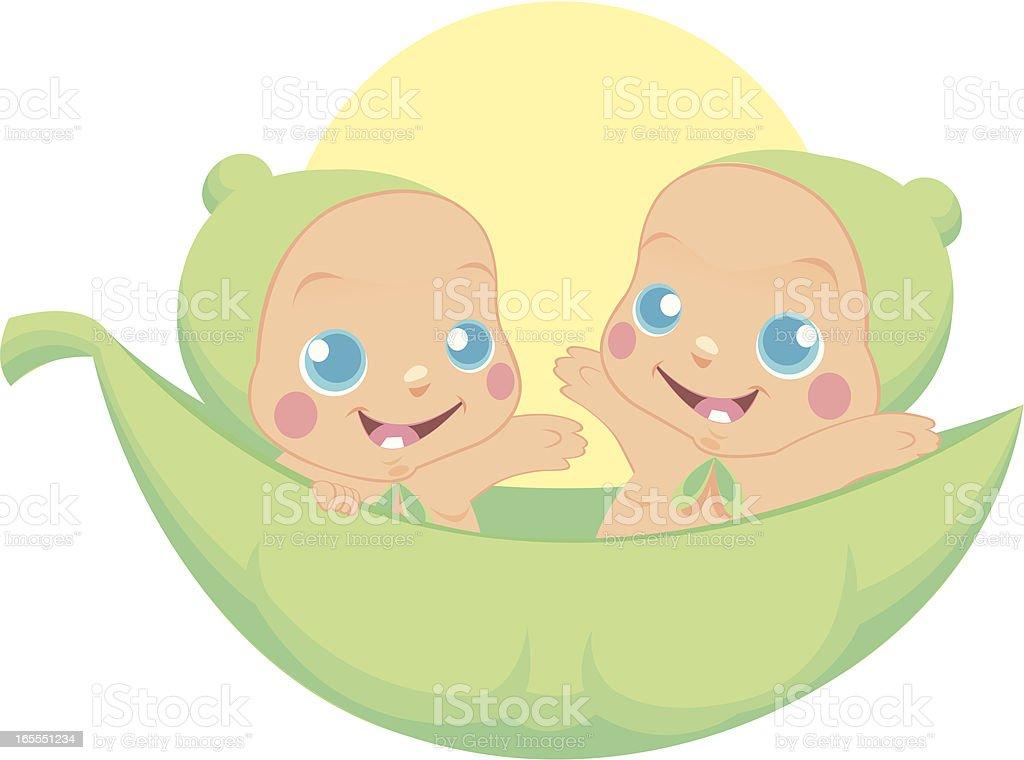 Twin Boys royalty-free stock vector art