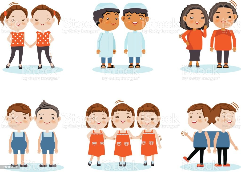 Twins Clip Art, Vector Images & Illustrations - iStock