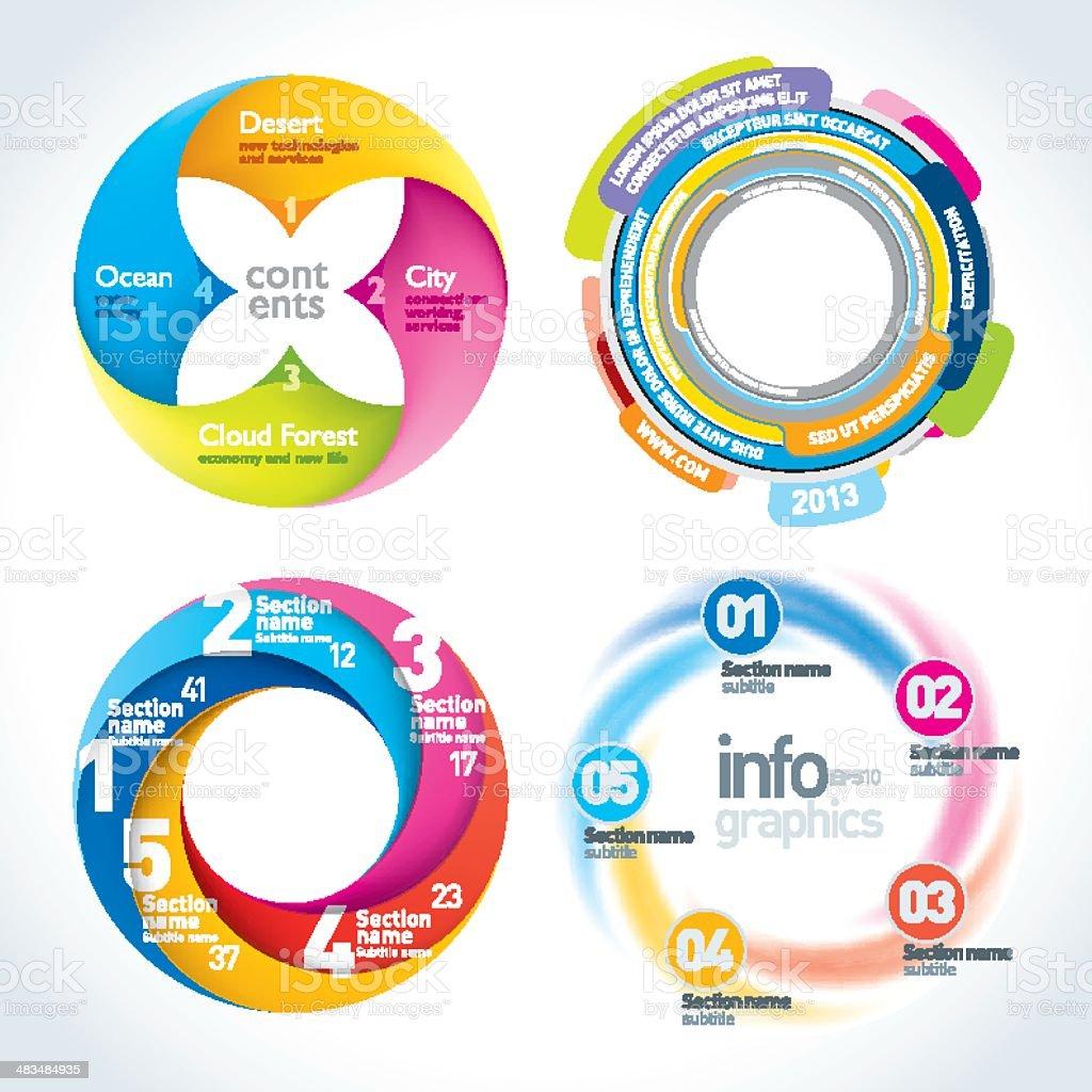 Twist Infographics Set royalty-free stock vector art