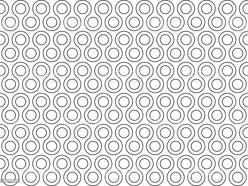 twist rounds seamless pattern vector art illustration