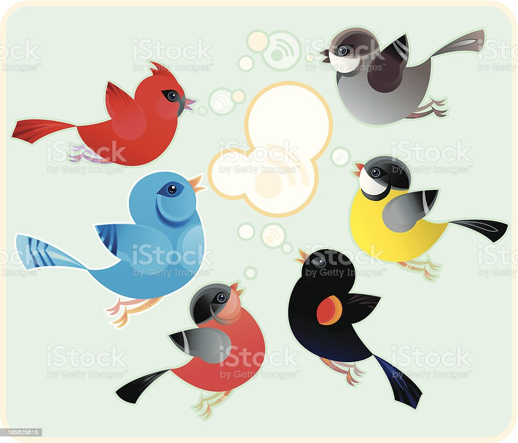 Twittering royalty-free stock vector art