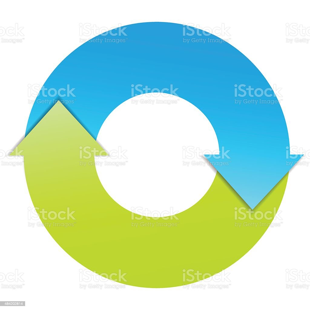 Two Arrows Business Cycle vector art illustration