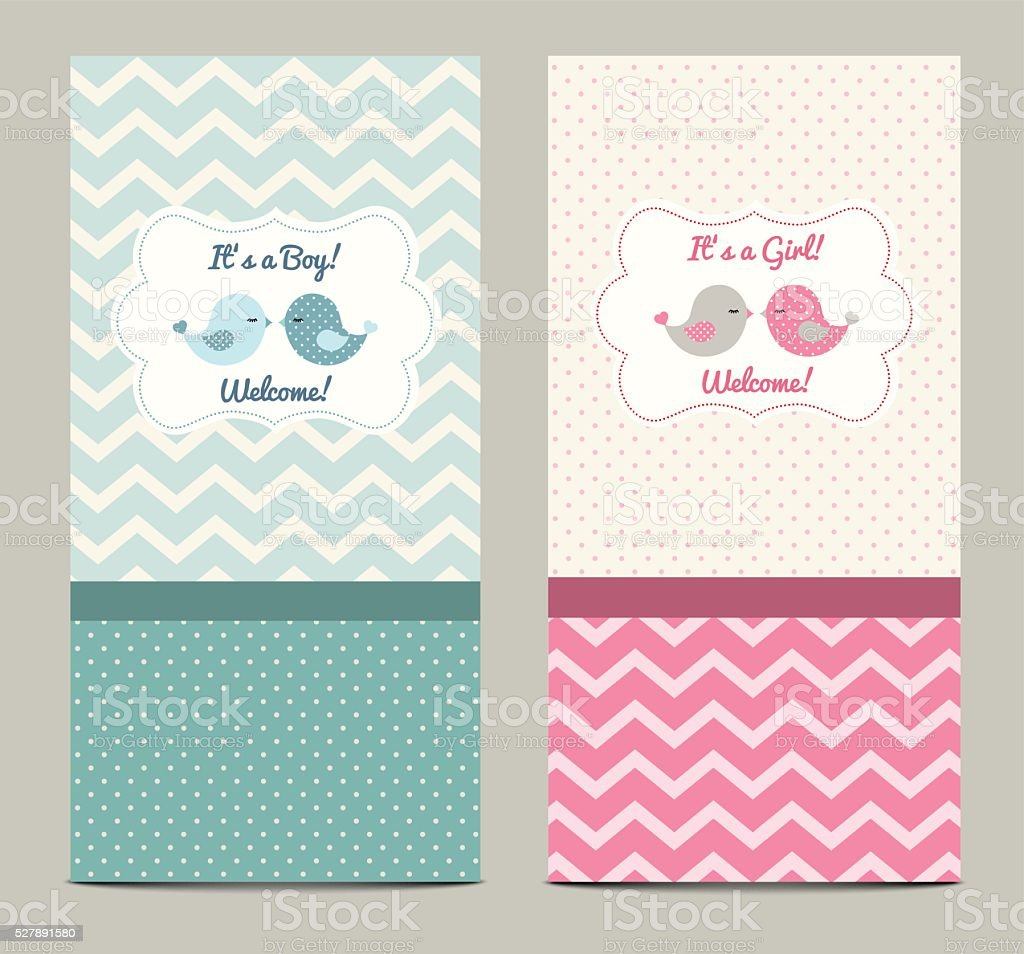 Two baby showers, illustration vector art illustration