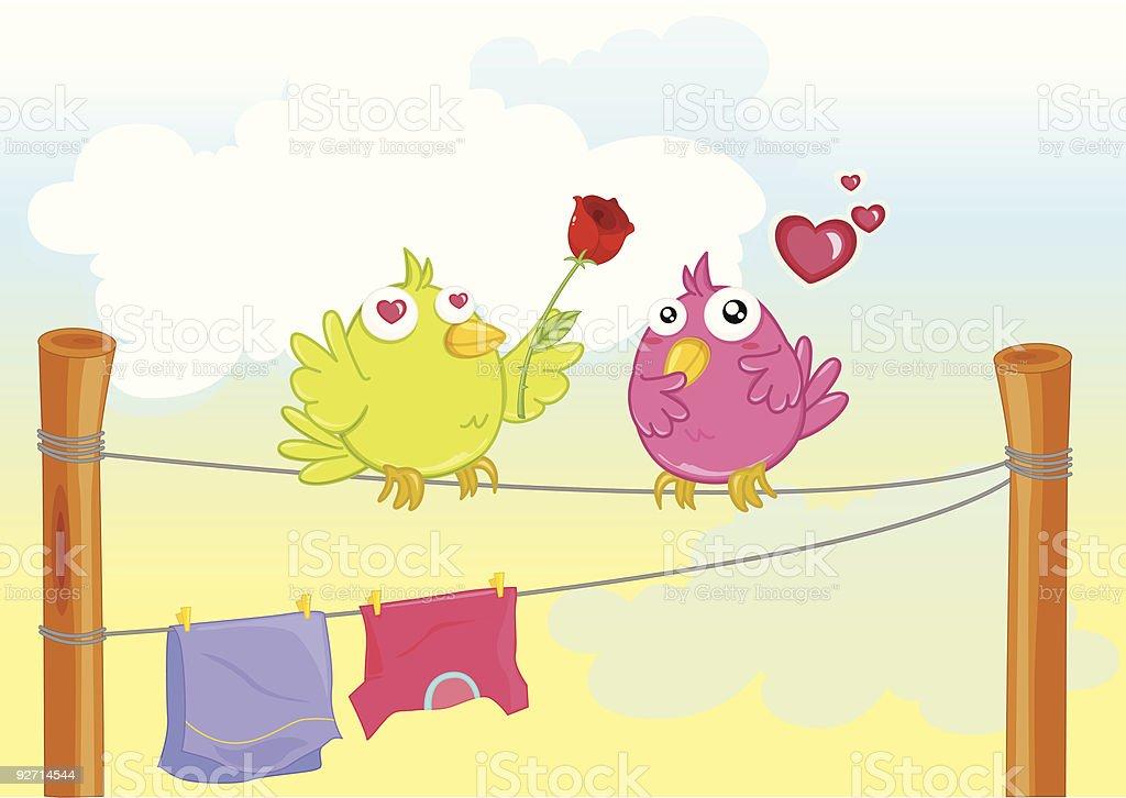 two birds royalty-free stock vector art