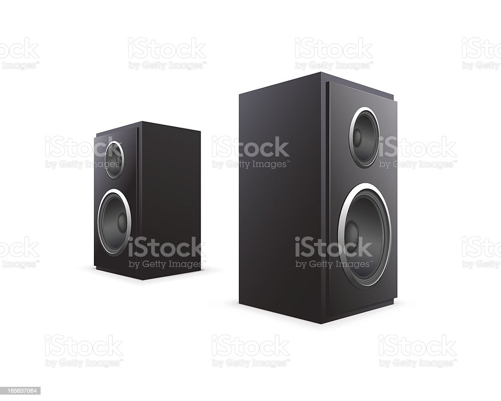 Two Black Speakers royalty-free stock vector art