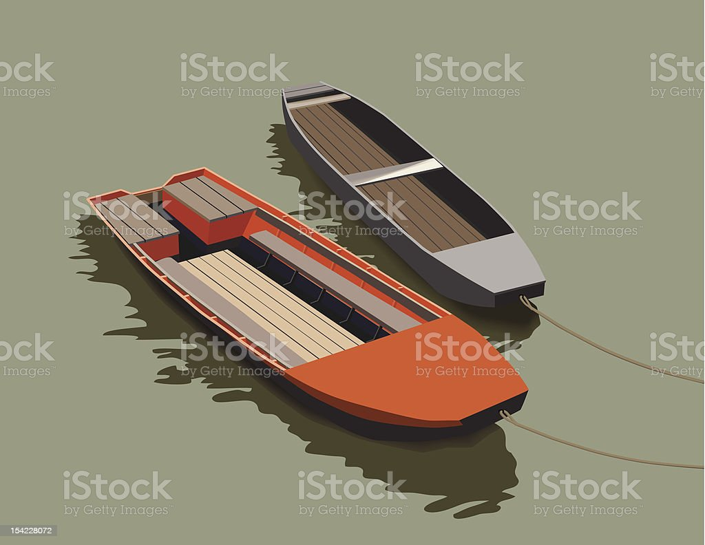 Two boats royalty-free stock vector art