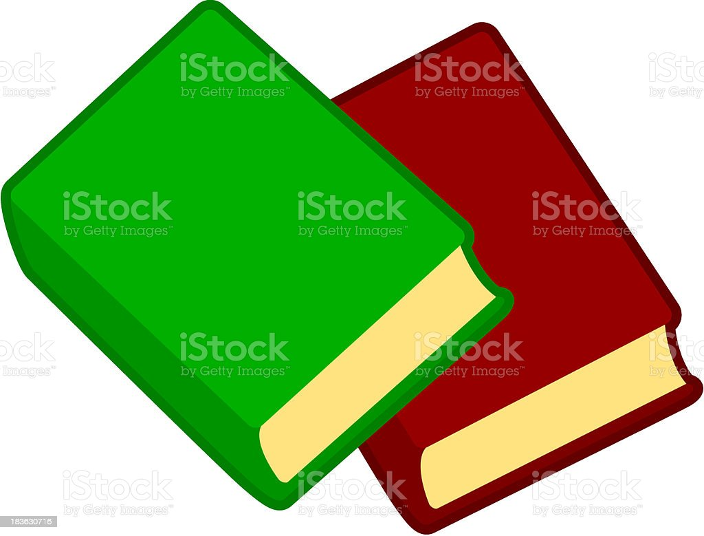 two books royalty-free stock vector art