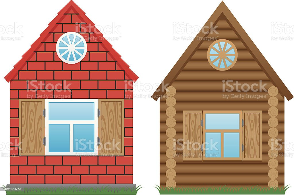 small brick homes pictures clip art vector images illustrations rh istockphoto com Stick House Clip Art Wolf Blowing House Down