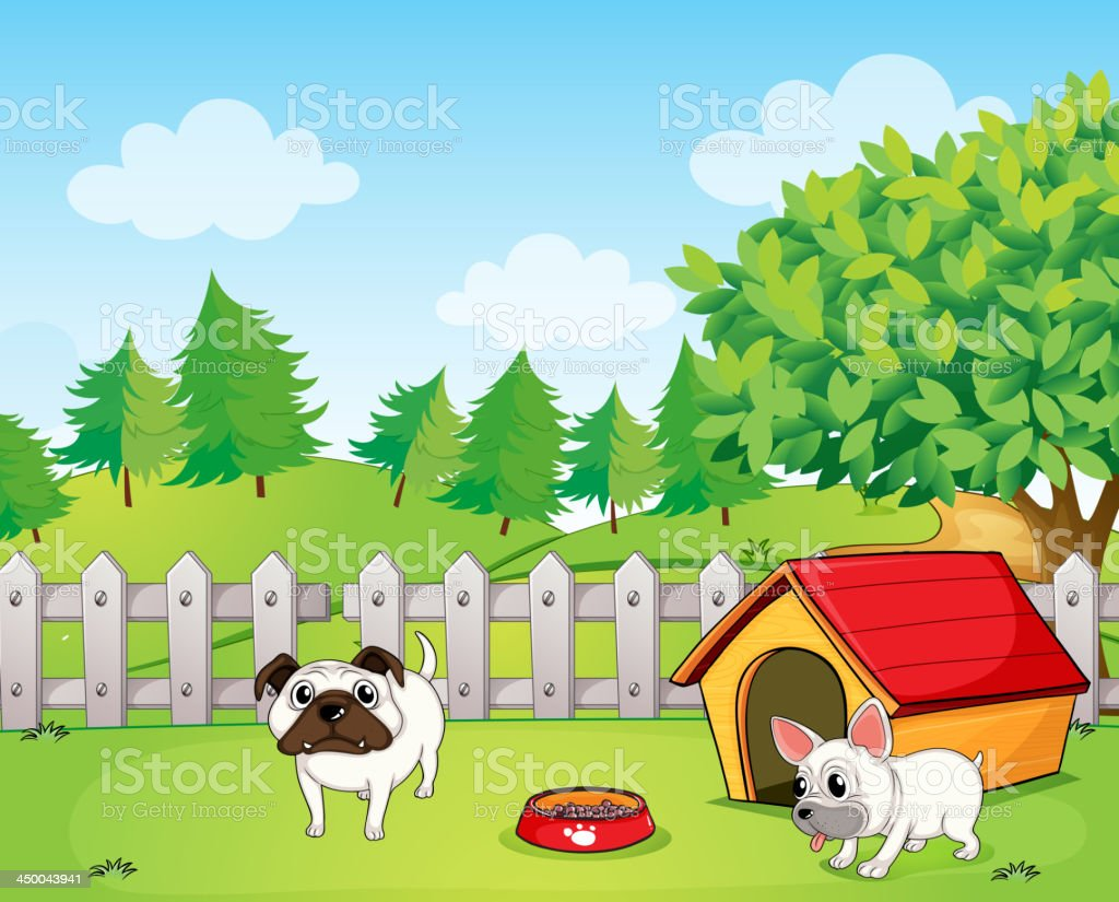 Two bulldogs royalty-free stock vector art