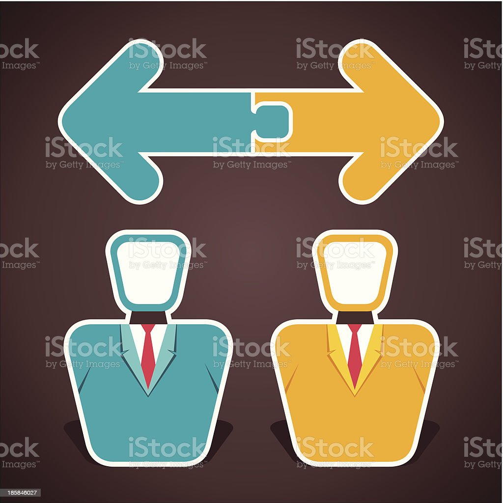 two businessmen royalty-free stock vector art