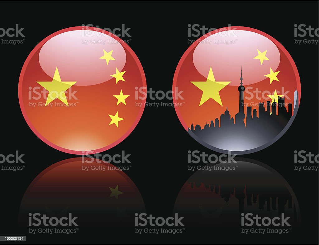Two Chinese Marbles royalty-free stock vector art