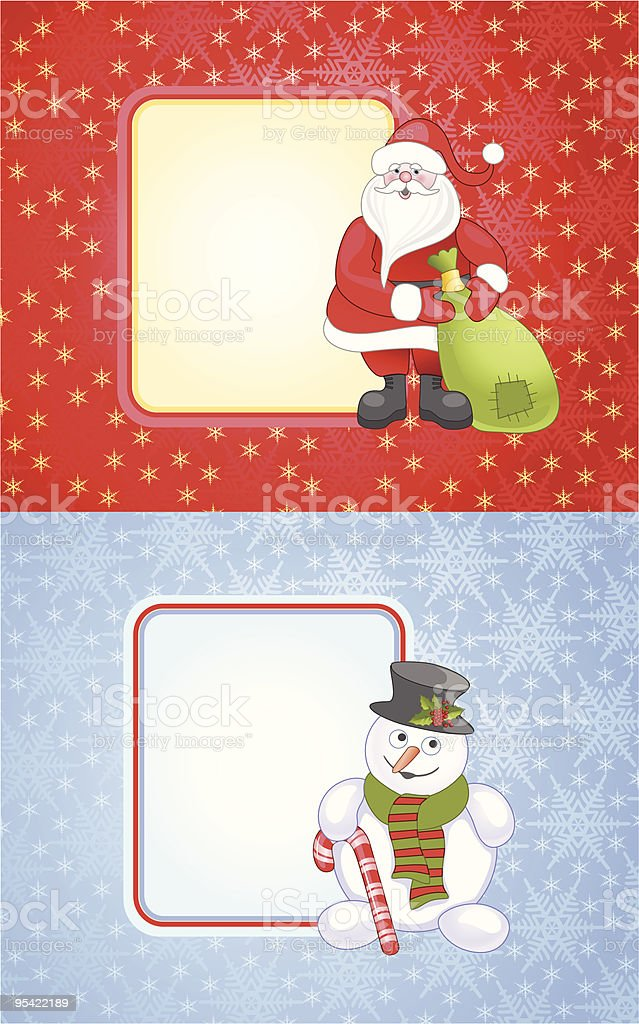 Two christmas cards royalty-free stock vector art