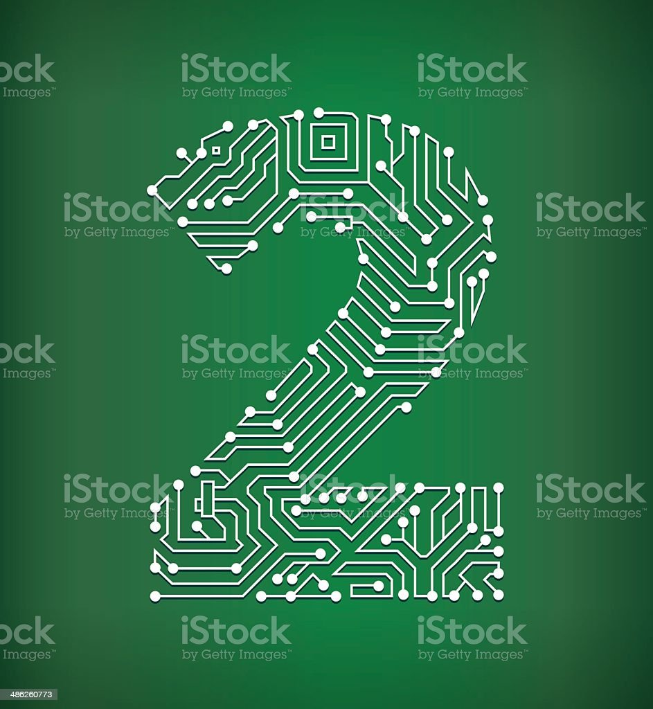 Two Circuit Board royalty free vector art background vector art illustration