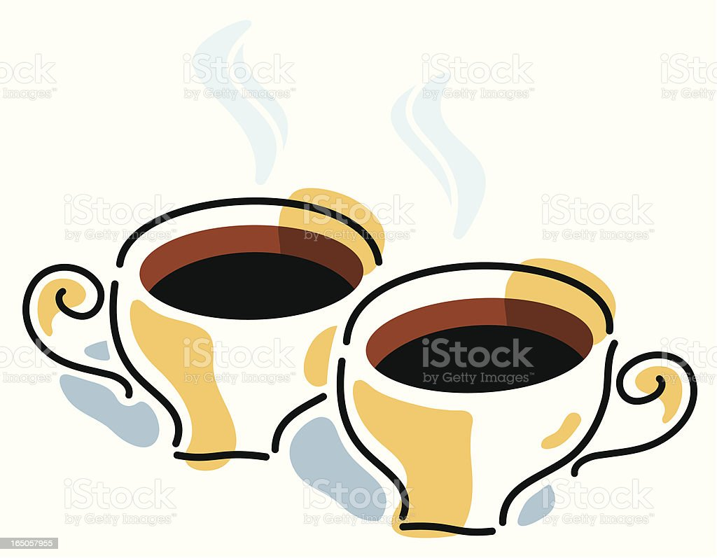Two coffees royalty-free stock vector art