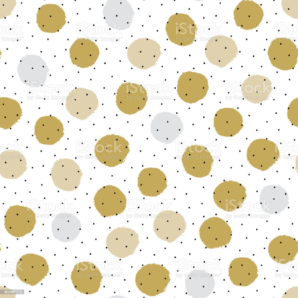 Two color textured polka dot background, seamless vector pattern vector art illustration
