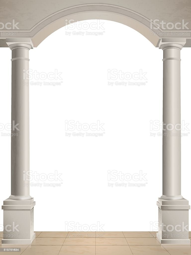 Two columns on white background vector art illustration