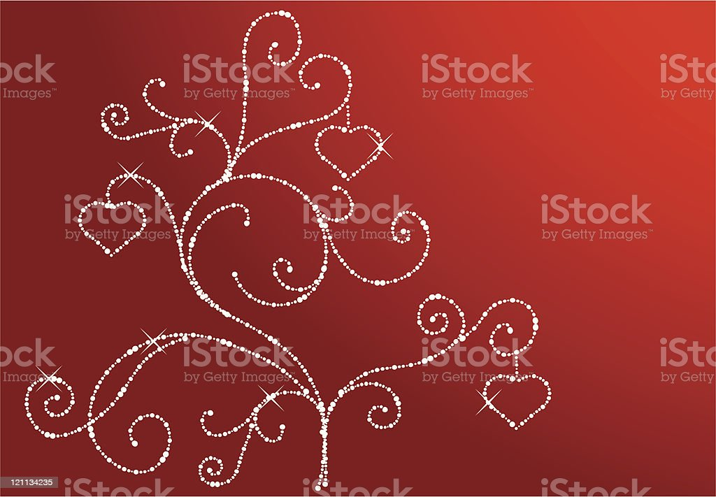 Two  credit  abstract background. Diamond valentines  tree royalty-free stock vector art