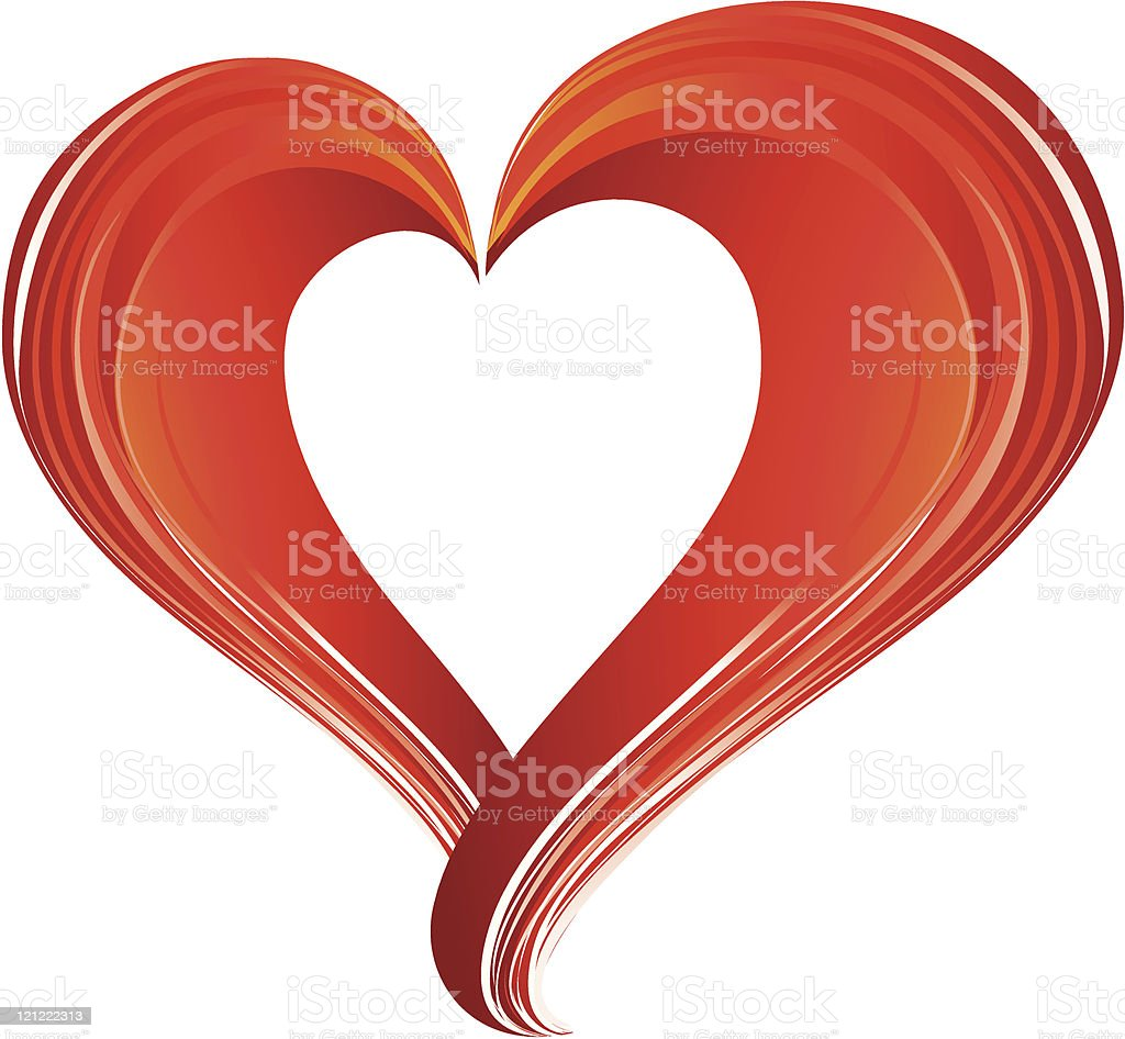 Two  credit  abstract red heart vector art illustration