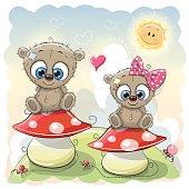 Two Cute Cartoon bears