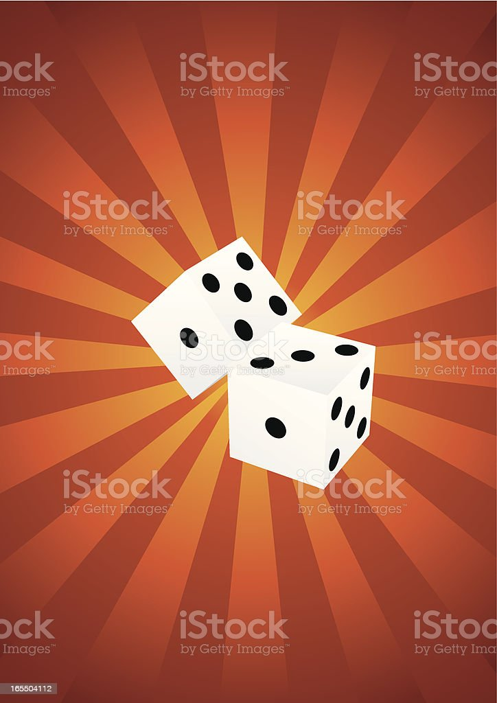 Two dices royalty-free stock vector art