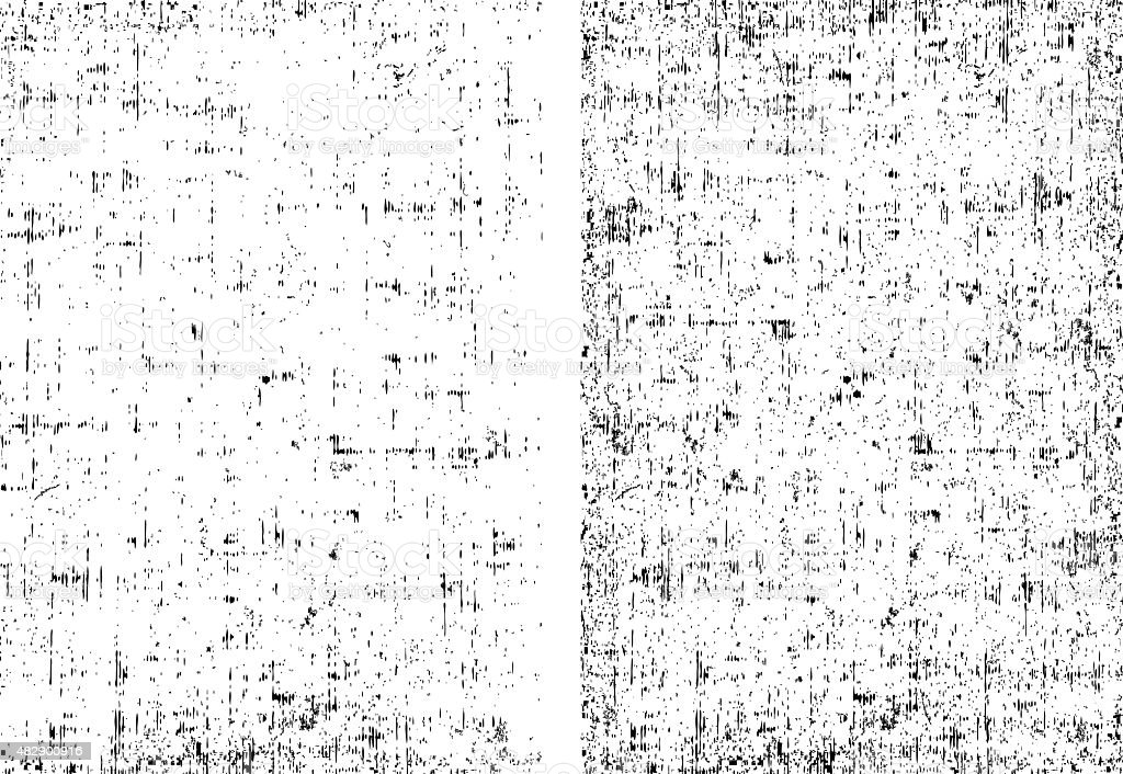 Two dirt grunge texture ready to overlay any objects vector art illustration