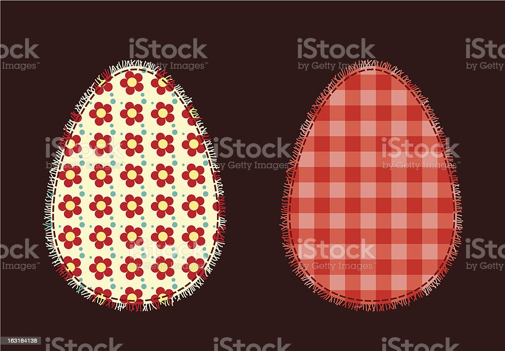 Two Easter eggs royalty-free stock vector art