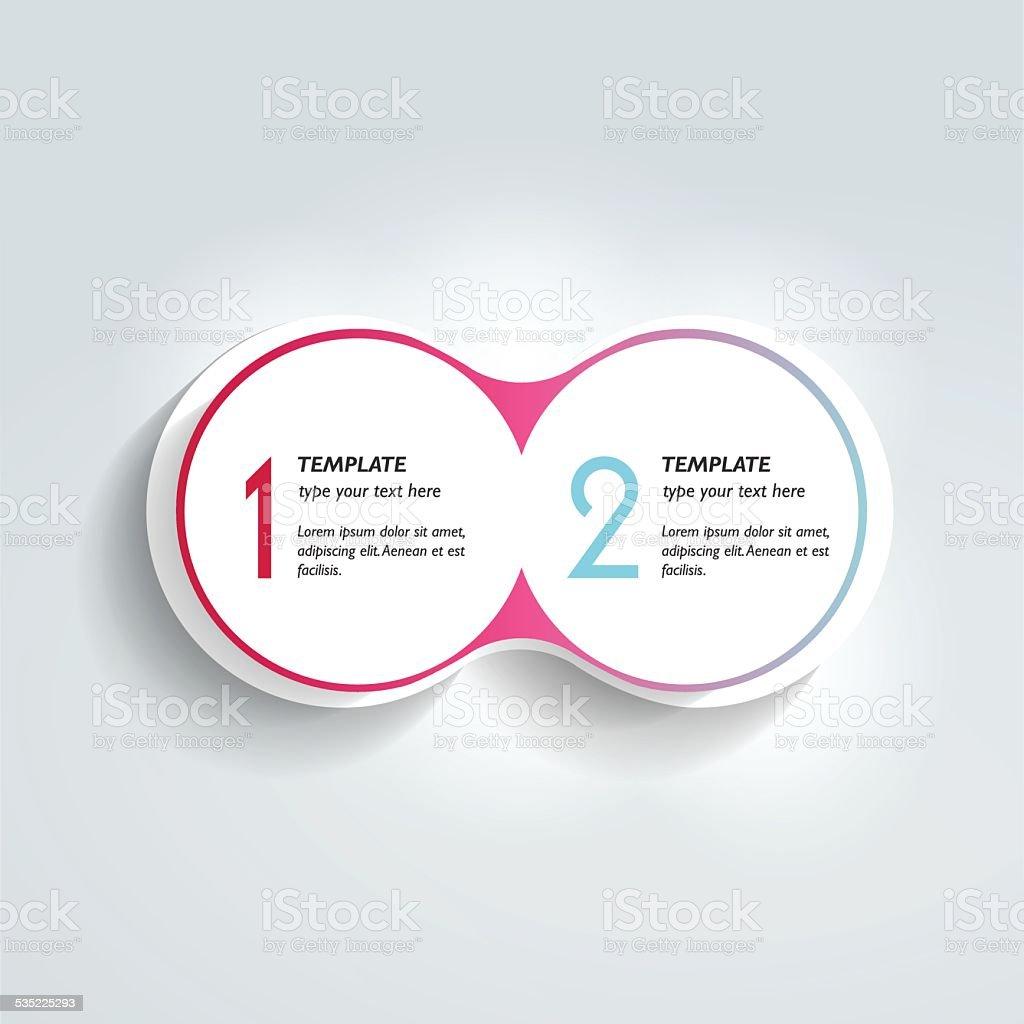 Two elements scheme, diagram. Infographic template. vector art illustration